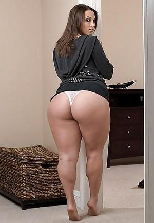 Big black ass thong