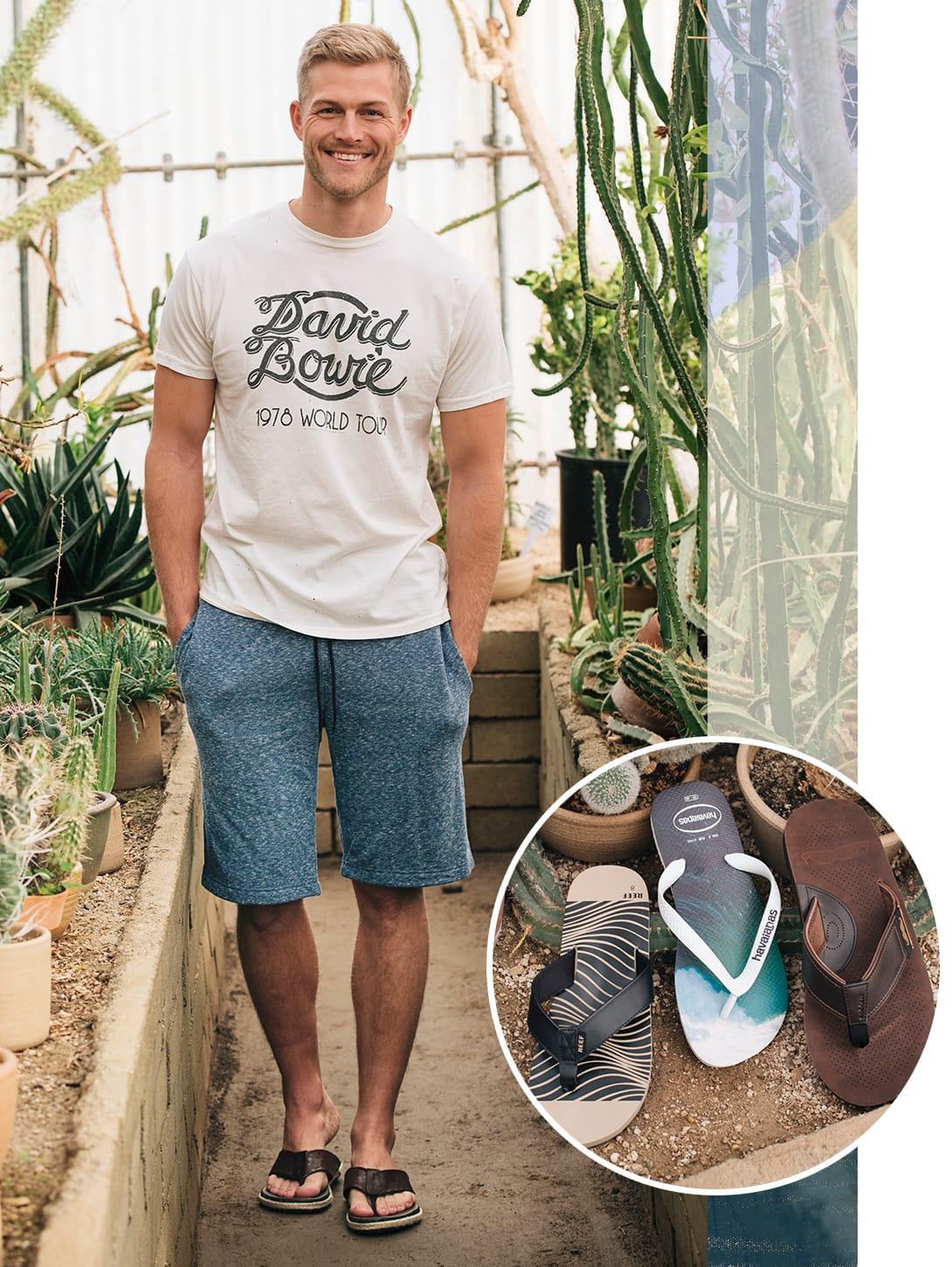 Men wearing flip flops sandals
