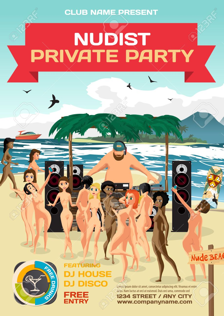 Free beach nude party pic
