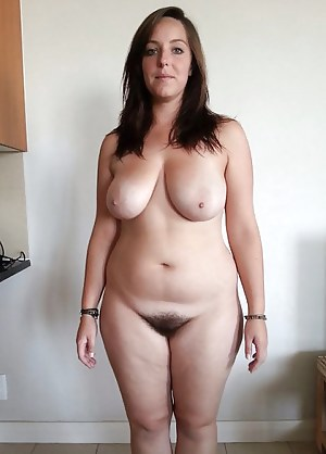 Busty plump naked moms