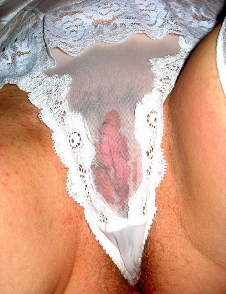 Dirty stained panties mature