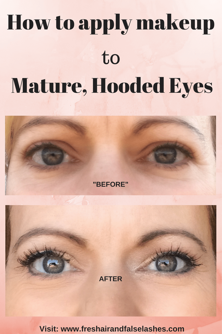 Mature hooded eye makeup