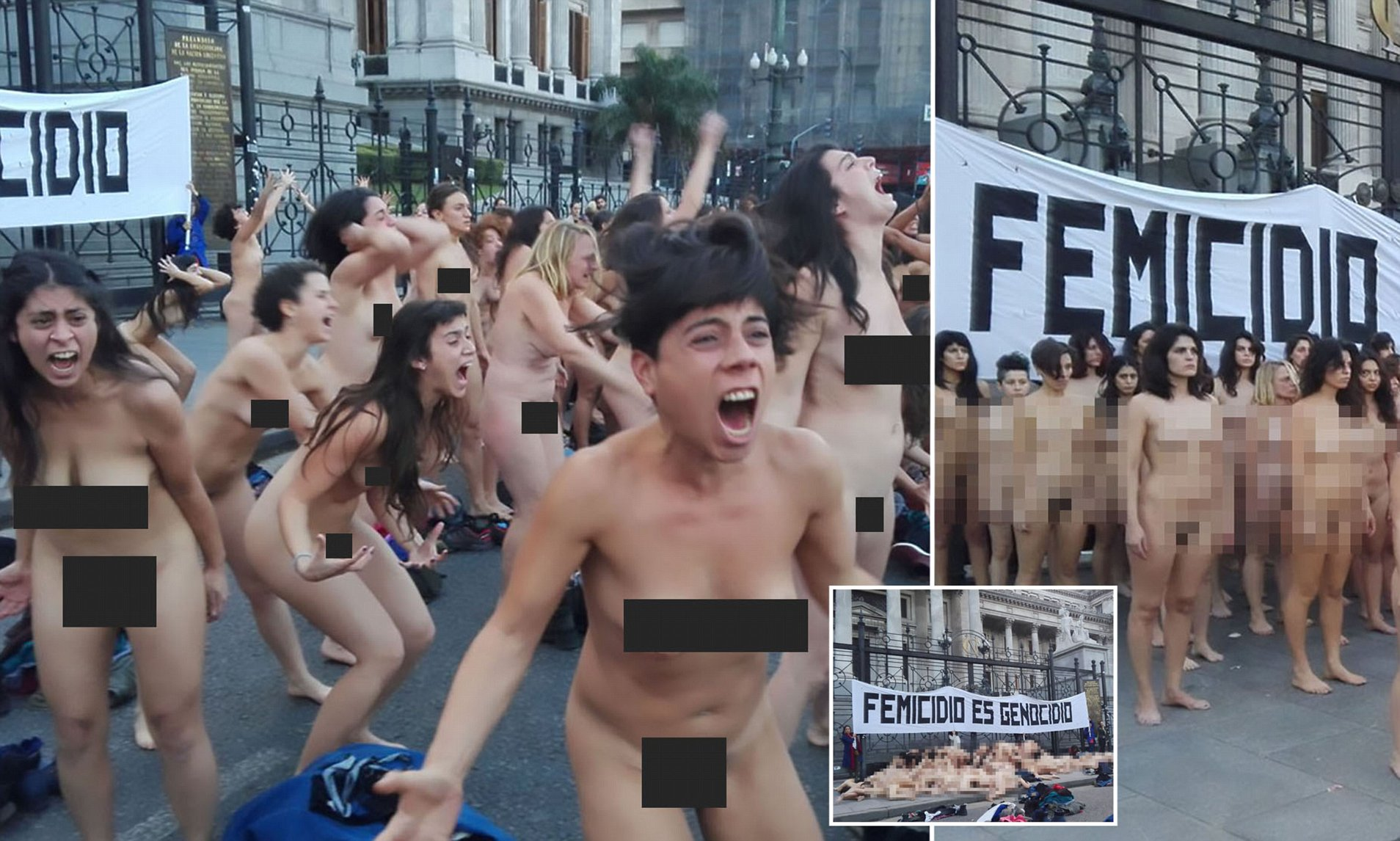 Hairy nude women protest