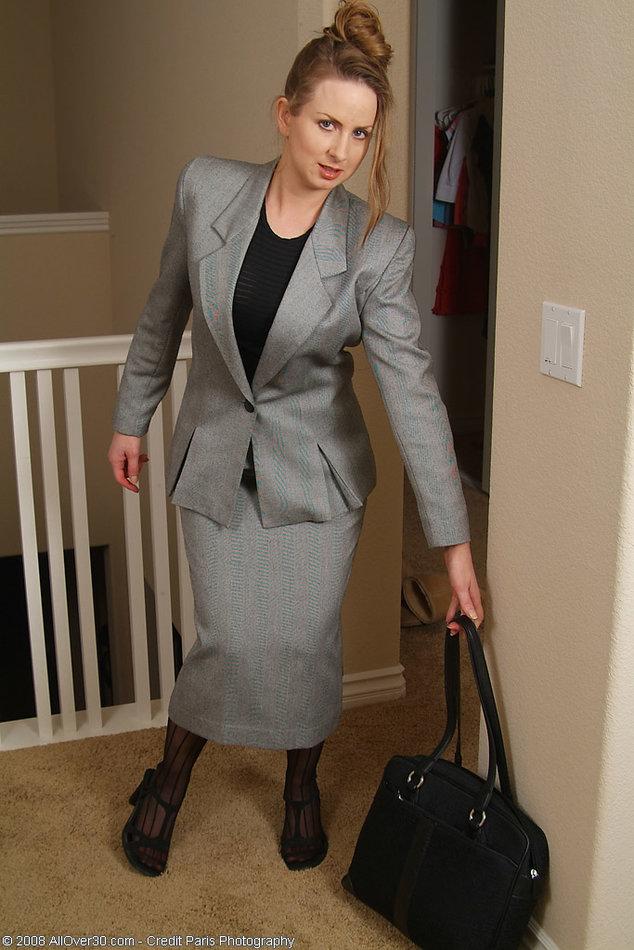 Femdom in business suit