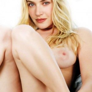 Nude girl on glass table