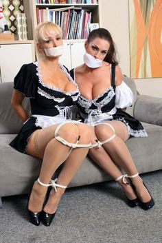 Stocking domination maid heels french