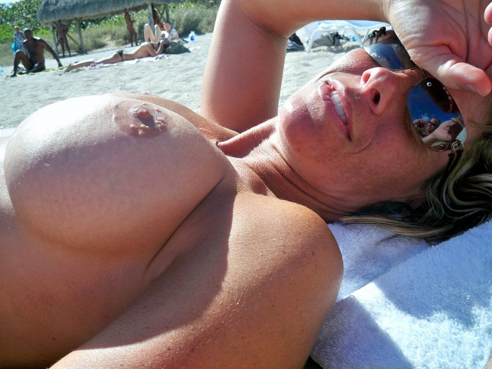 Wife on nude beach milf