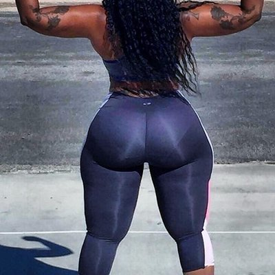 Big ass ebony latex