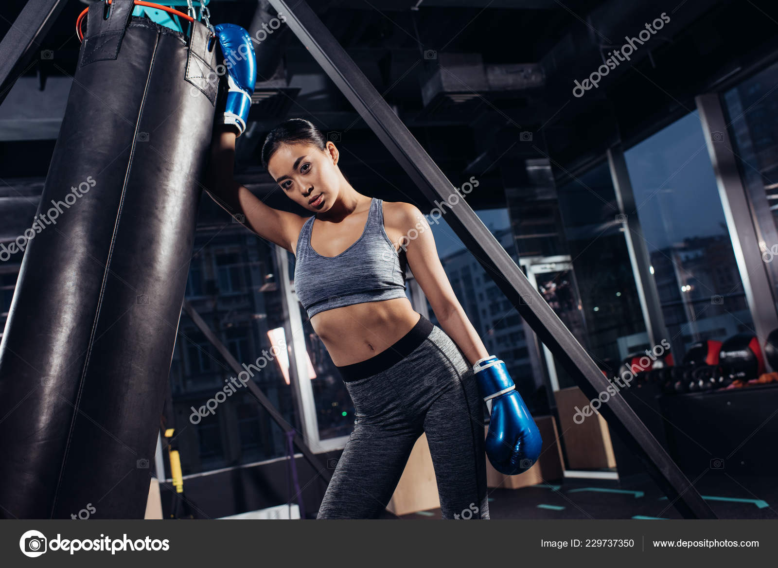 Sexy asian girl boxing