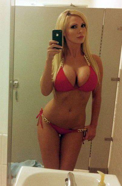 Cute blond bikini big tits