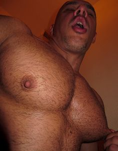 Naked hairy men with big nipples