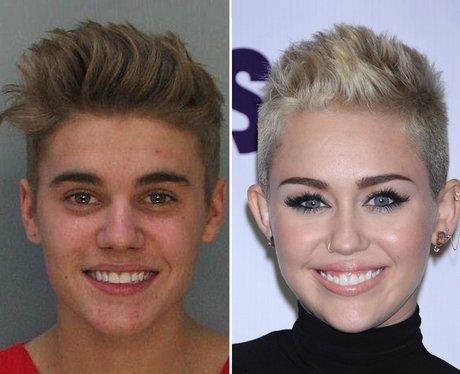 Justin bieber and miley cyrus look alike
