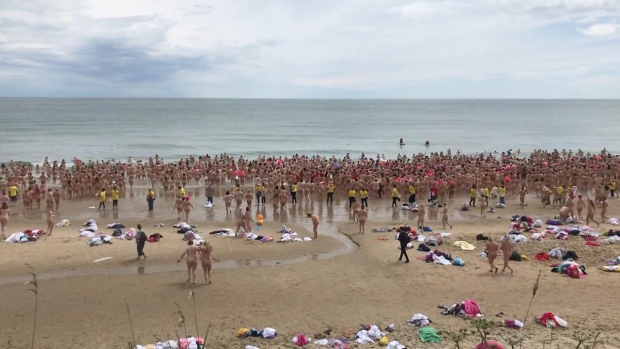 Nude aunts on beach