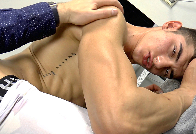 Massage muscle handjob worship and