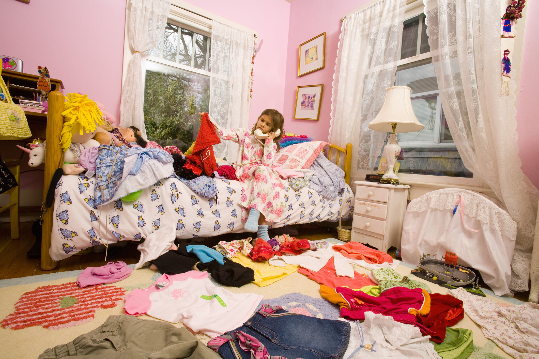 Adults with messy rooms
