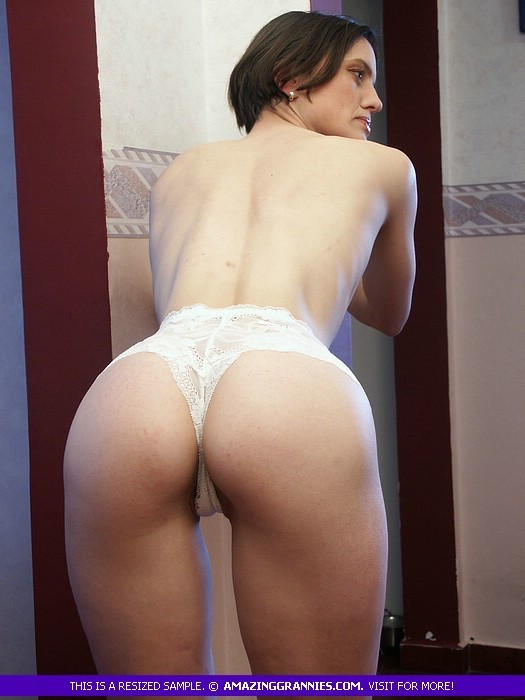 Mature skinny granny ass