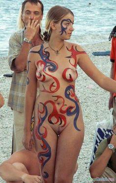 Body paint women nude russian
