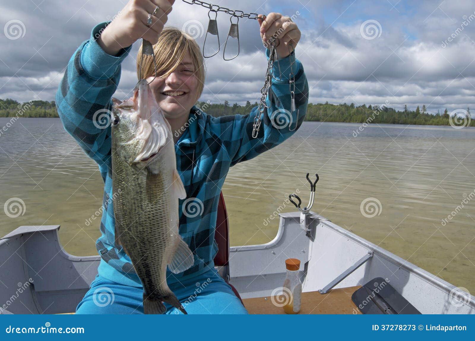 Girls bass fishing boats