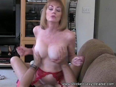 Sexy mom riding cock
