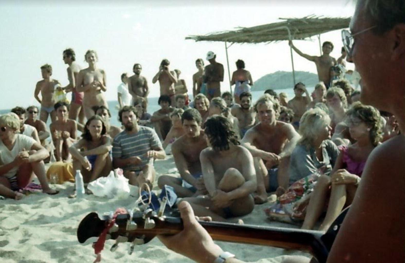Beach sex nude on crowded