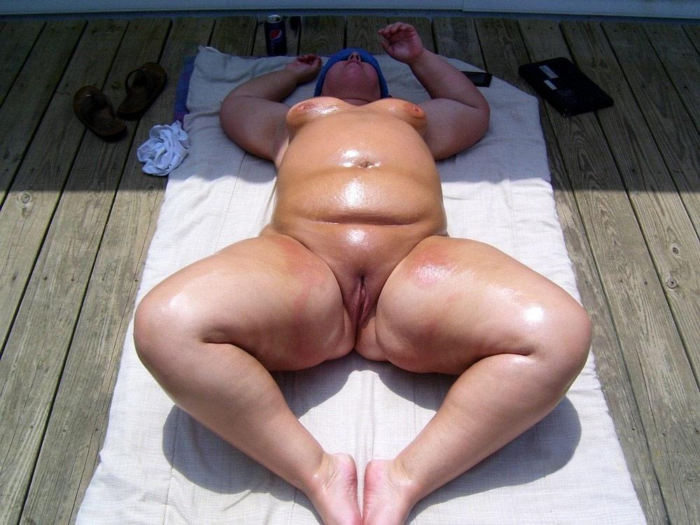 Fat mature on nude beach