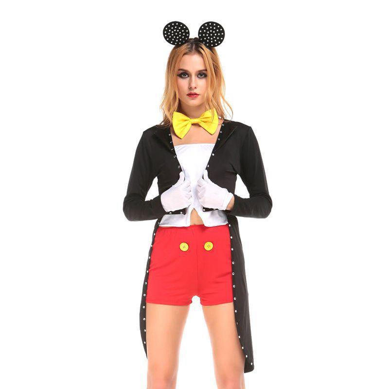 Mickey mouse halloween costume women sexy