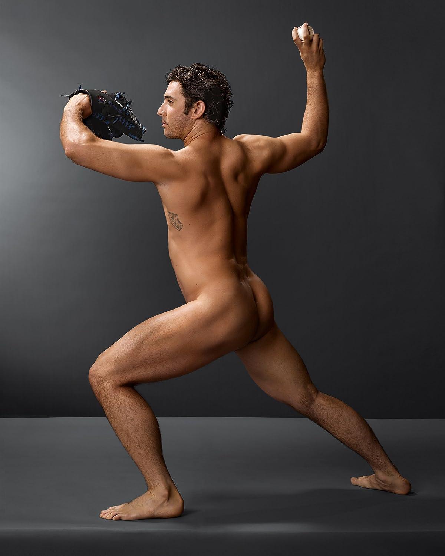 Naked men beisbol players
