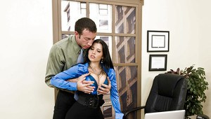 Secretary pantyhose office girl