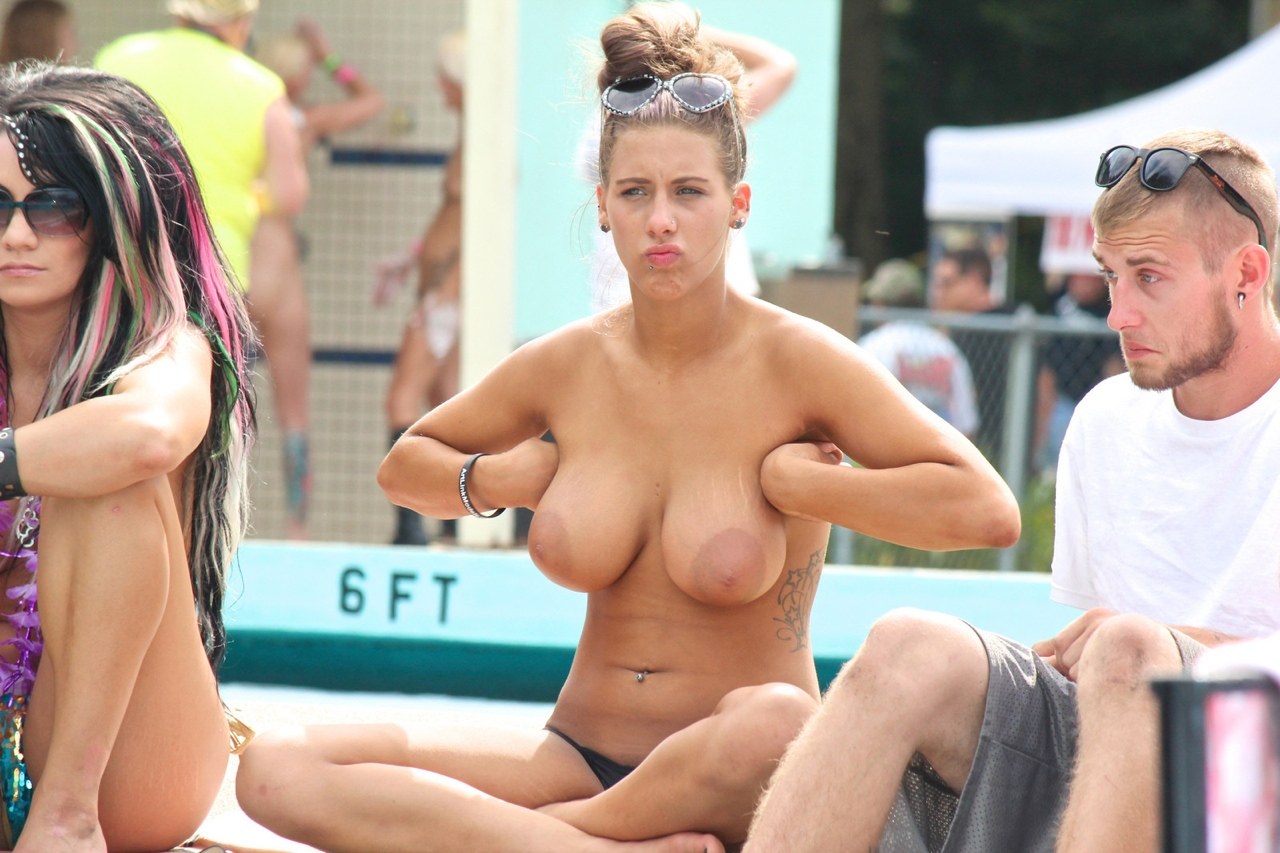 Nipples big areola beach