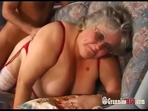 Bbw granny in stockings