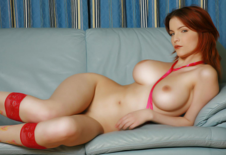 Hot redhead big tits