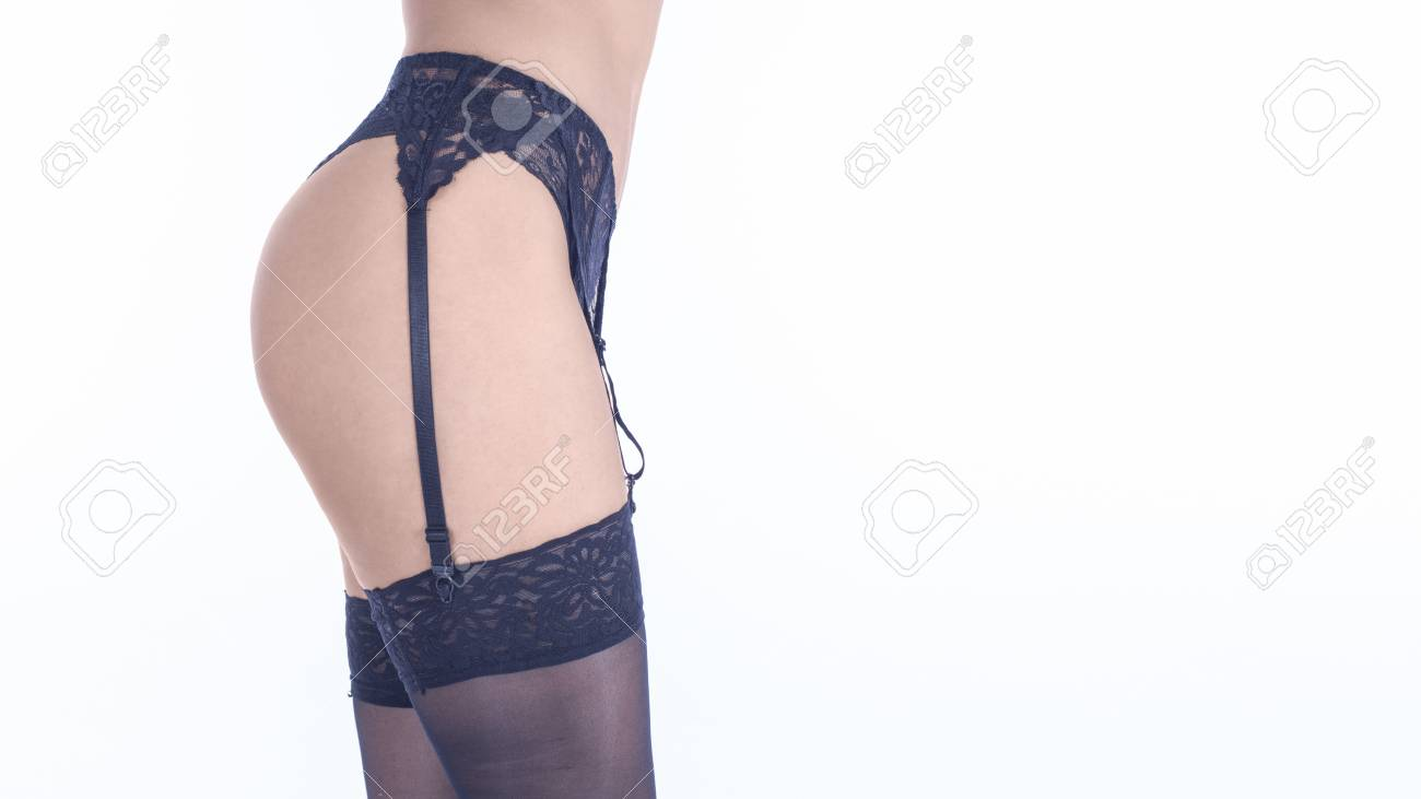 Woman garter belt and stockings