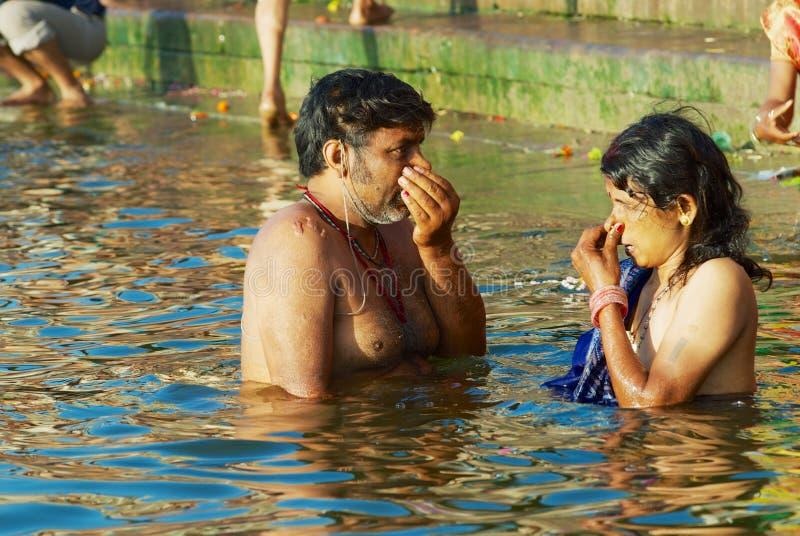 River bathing indian girls