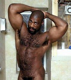 Naked black hairy men