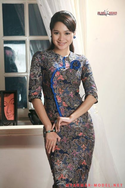 Myanmar model moe yu san