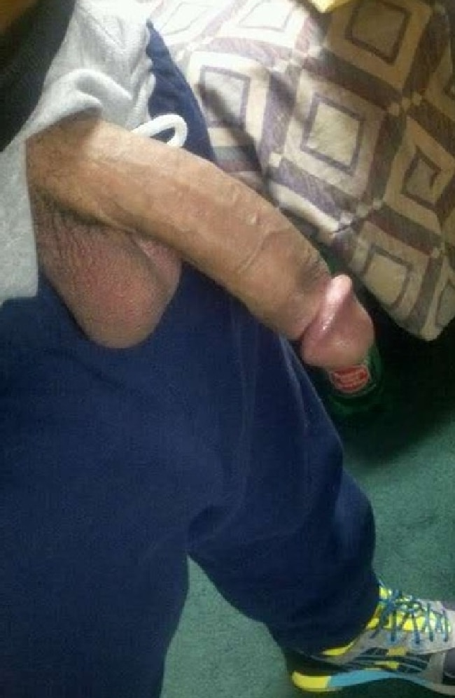 Big black cock dick out of pants