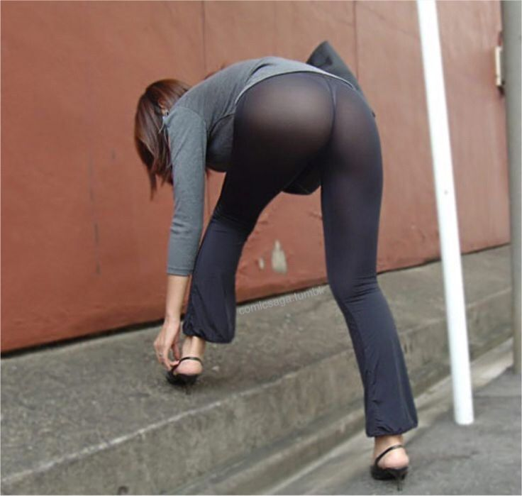 Candid bent over ass