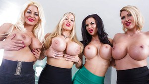 Big humongous boobs breaking shirts