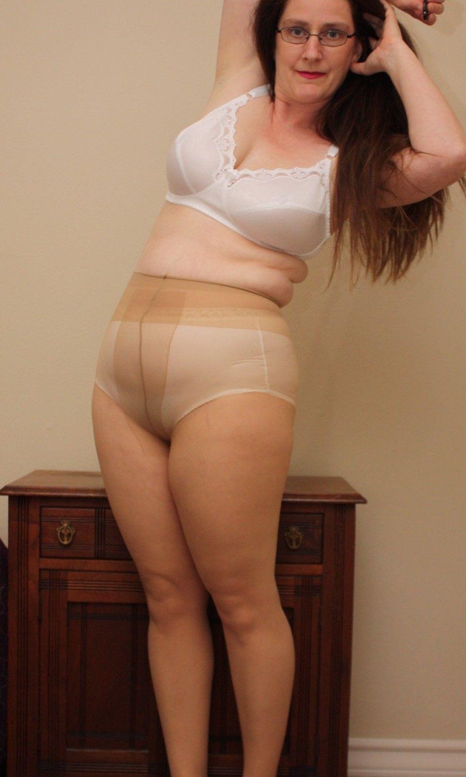 Mature bra and pantyhose