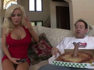 Delivery girl boobs photo