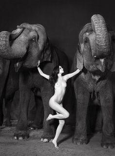 Sexy woman circus nude