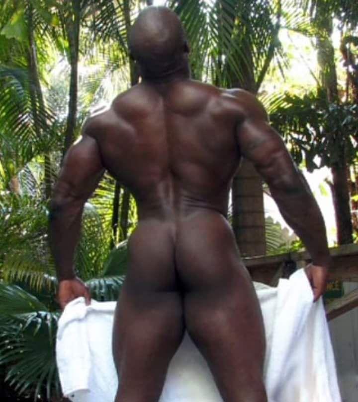 Butt man big black bubble