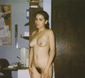Old nude in home