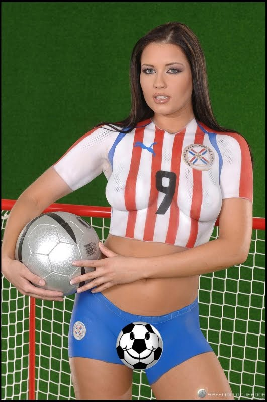 Paint body soccer hot women