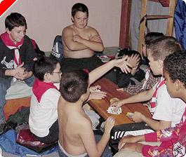 Teen friends strip poker