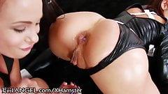 Sexy black girls booty licking lesbians