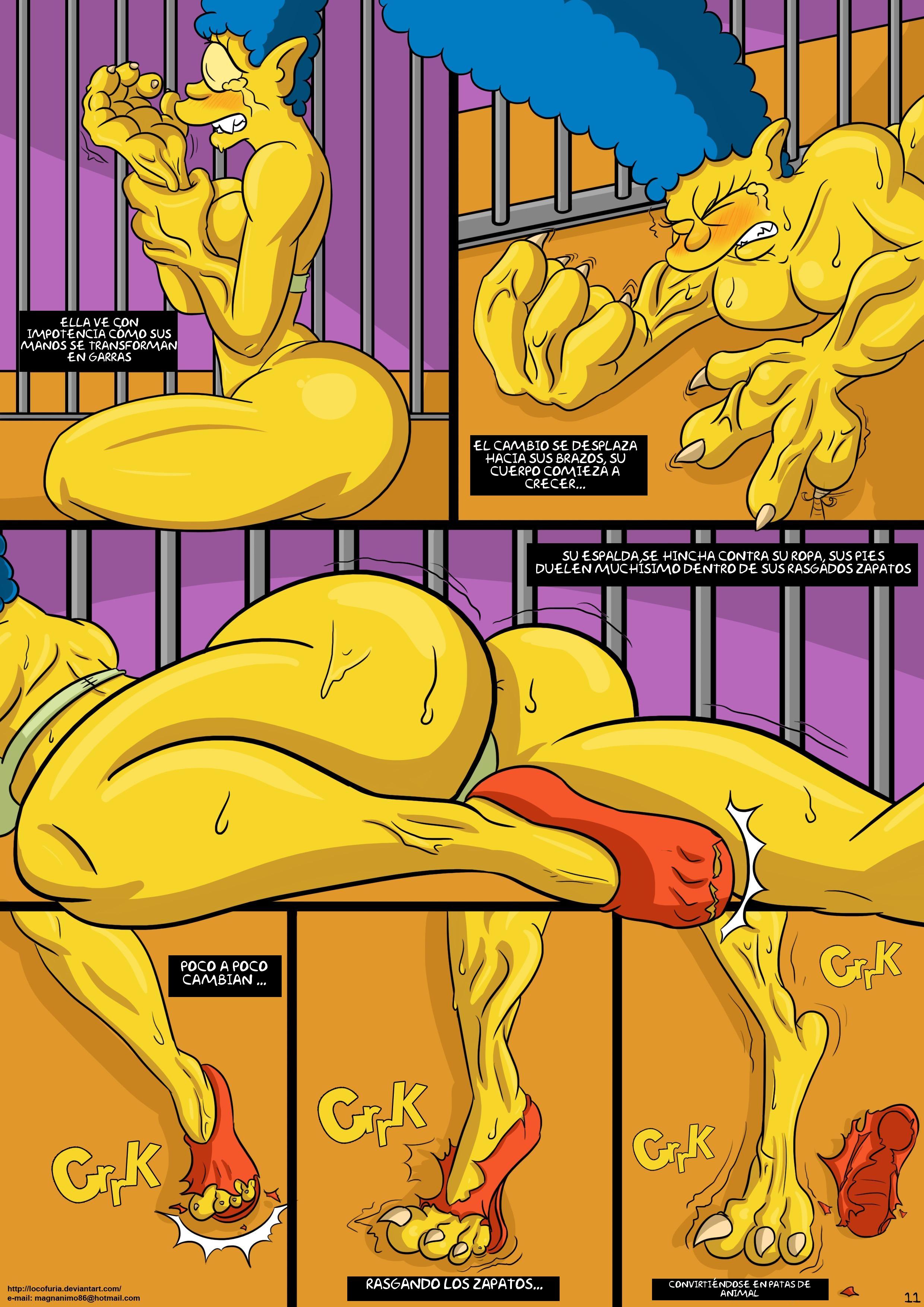 Marge simpson comic porn