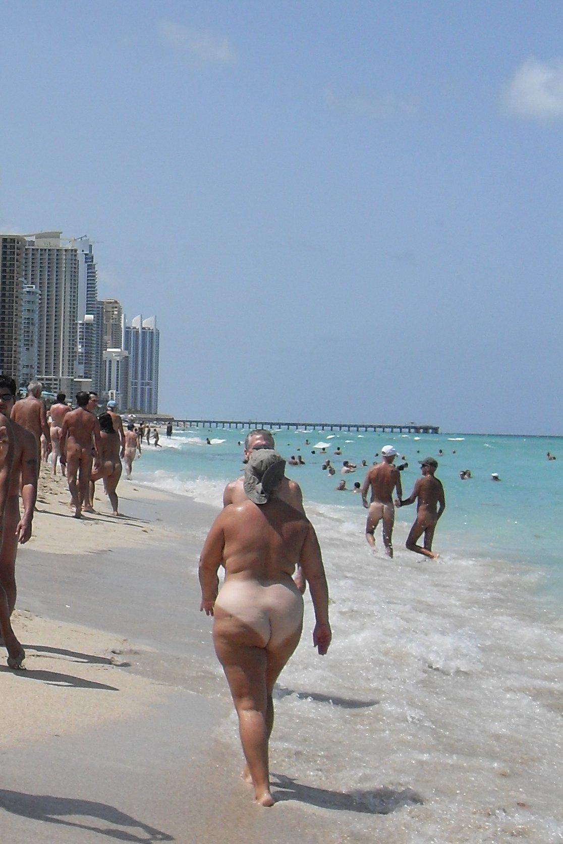 Camera at nude beach
