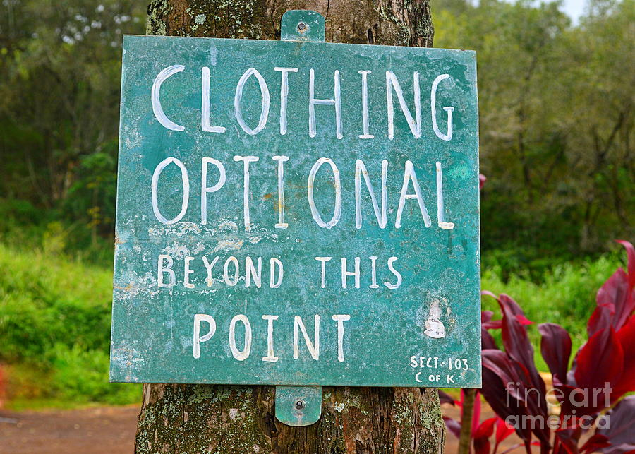 Kauai beaches clothing optional