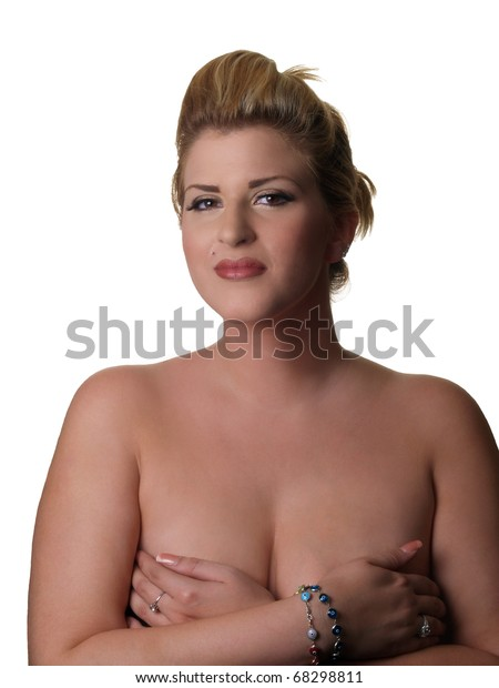 Plus size model topless